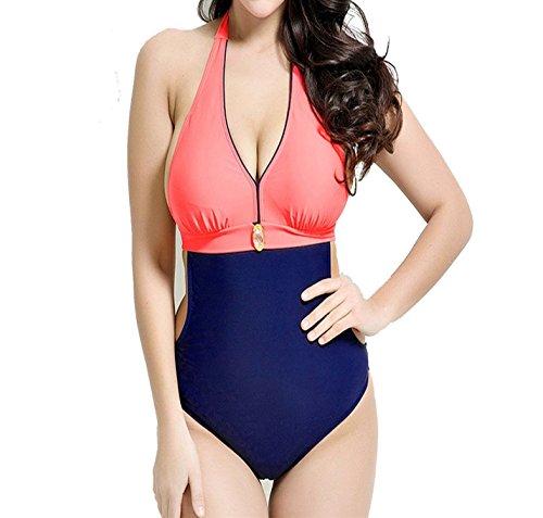 Lokouo Bikini The Color Retro Suit New Swimsuit 52 Red