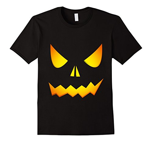 Mens Halloween Pumpkin T Shirt - Halloween Customes Pumpkin Shirt Large (Customes For Men)