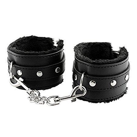 fvfv(US) NEW912222nn-02-Adjustable PU Handcuffs Ankle (Locking Ankle Cuff)