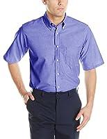 Red Kap Men's Executive Oxford Dress Shirt, French Blue, 4X-Large/Tall