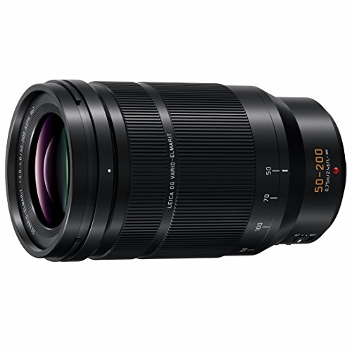 PANASONIC LUMIX Professional 50-200mm Camera Lens, G Leica DG Vario-ELMARIT, F2.8-4.0 ASPH, Dual I.S. 2.0 with Power O.I.S, Mirrorless Micro Four Thirds, H-ES50200 (Black) (Best Telephoto Lens For Micro Four Thirds)