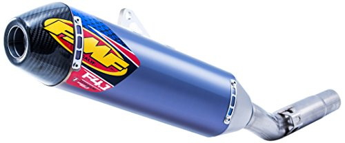 FMF 16-18 KTM 450SXF Factory 4.1 RCT Slip-On Exhaust (Blue Anodized Titanium with Titanium Mid Pipe and Carbon Fiber End Cap)