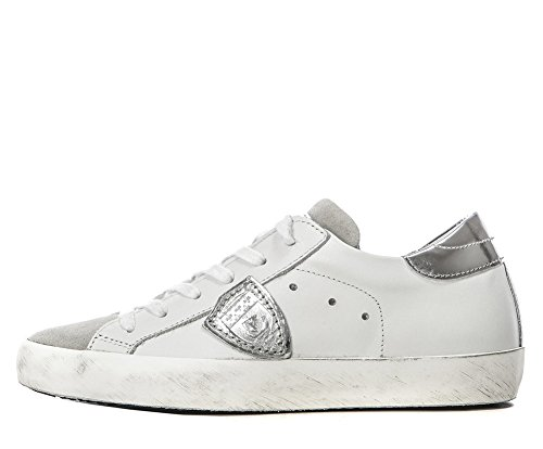 1d62a35e05 Philippe Model Women Classic Paris Low Sneakers Basic White/Silver CLLD1005  (whoosso)