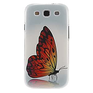 SHOUJIKE Gorgeous Butterfly Pattern Plastic Protective Hard Back Case Cover for Samsung Galaxy S3 I9300