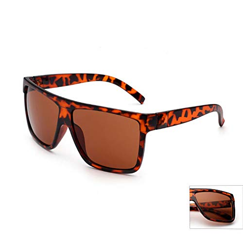 de de Ultravioleta Gafas de Cool Sol Gafas Mujer Pareja tamaño Marco Retro para de con de Gran Estilo de UV400 conducción de Sol Grande Gafas para Sol White Leopardo So Unisex HD Black Hombre a1gqgd