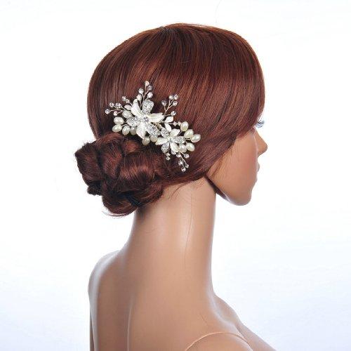 Remedios Crystal Hair Comb Clip Bridal Hairband Tiara ()