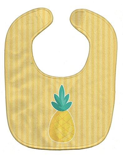 Caroline's Treasures Pineapple Baby Bib, Beige, Large