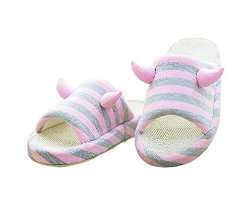 VWU - Zapatillas de estar por casa para mujer Rosa