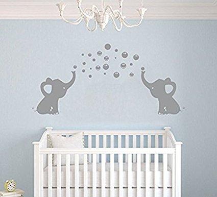 Bdecoll Elefant Bubbles Wandbild Aufkleber Kinderzimmer Decor Vinyl