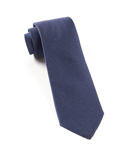 The Tie Bar Astute Solid Wool Blend Navy Tie ()