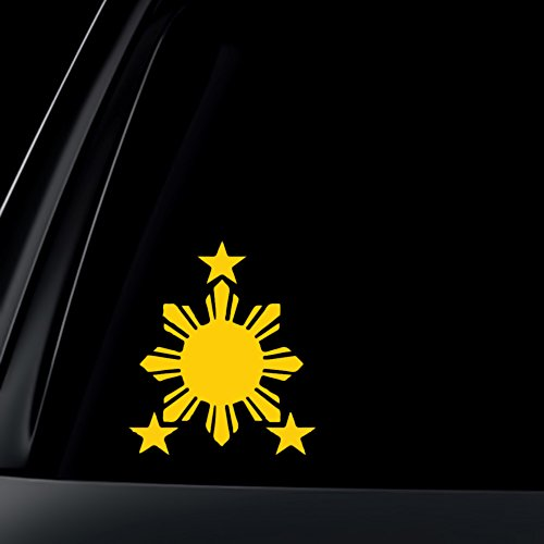 - World Design Philippine Flag Sun Car Decal/Sticker - 6