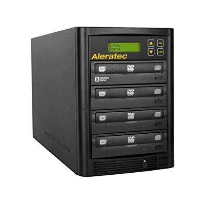 Image of Optical Drives Aleratec Direct V2 Copy Tower Stand-Alone Optical Drives, Black 1:3 DVD CD Copy Tower