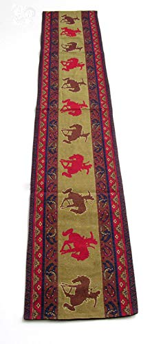 Horseshoes Cowboys & Broncos SouthWestern Style Table Runner 13x72 inches