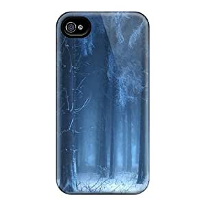 Iphone Cover Case - Beautiful Blue Forest Protective Case Compatibel With Iphone 4/4s