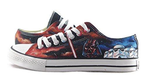 - Custom Design Star Wars Men Women's Sneakers High Top Hand Painted Shoes