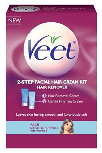 Kit dépilatoire Veet Crème Visage, 3,38 once (Pack de 3)