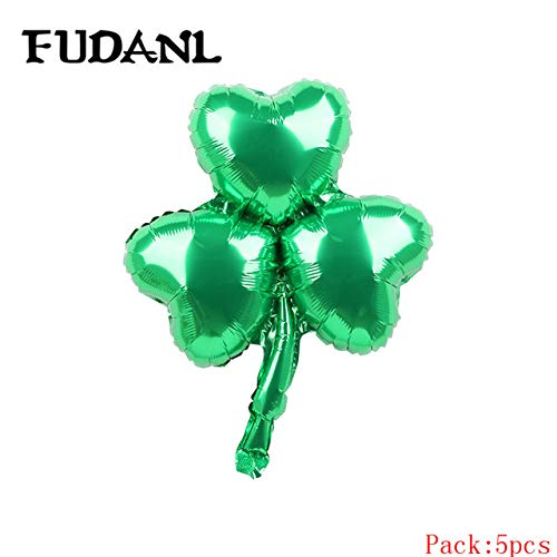 Utini 5pcs Green Clover Beer Cup Air Balloons to Celebration Oktoberfest Festival Supplies Balloon Happy St Patrick's Day Decor Globos - (Color: As Pitucre)