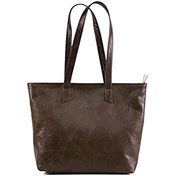 df4ceba477 Handcrafted Soft Genuine Vintage Full Grain Leather Tote Shoulder Handbag  Fully Lined Purse for Women- The Aartisan
