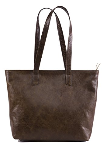 - Handcrafted Soft Genuine Vintage Full Grain Leather Tote Shoulder Handbag Fully Lined Purse for Women- The Aartisan