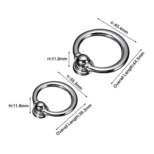 Zhi Jin 8Pcs Solid Cabinet Knobs Handle Ring Shoe Book Drawer Knob Pack Set Home Office Gold-Small by Zhi Jin (Image #2)