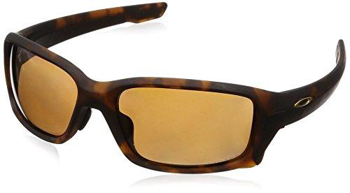 Oakley Men's OO9336 Straightlink Asian Fit Rectangular Sunglasses, Matte Brown Tortoise/Prizm Bronze Polarized, 61 mm (Oakley Asian Fit)