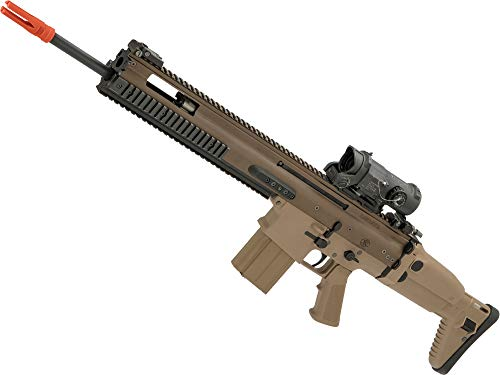 Evike FN Herstal Licensed Full Metal Scar-H Airsoft AEG Rifle by WE-Tech (Color: Tan/SSR)