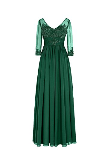 Spitzen Fanciest rmeln the Lang Green Bride Abendkleider of Mother Damen mit Crystal qwarwtS