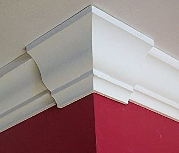 crown molding corner deco low profile outside fits 3 3 58 inch crown