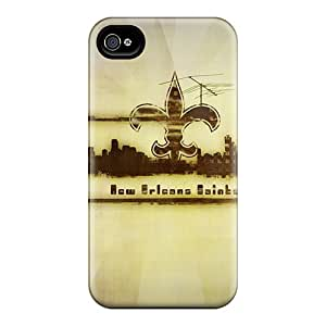 Tpu Case Cover For Iphone 4/4s Strong Protect Case - New Orleans Saints Design