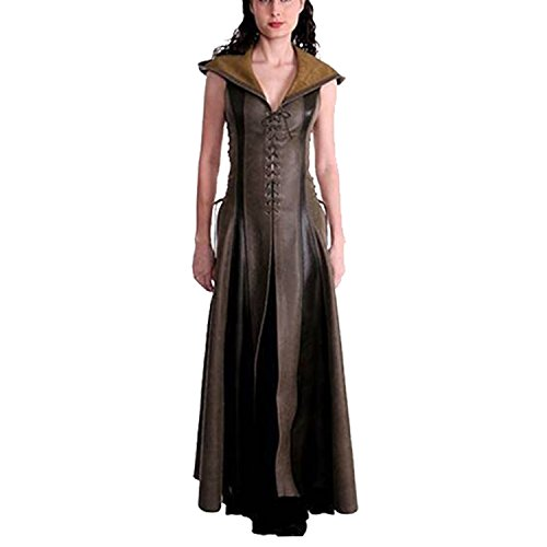 Women's Gothic Hooded Long Dress Archer Cosplay Dress