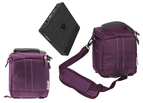 Navitech Purple Mini PC Bag Case Compatible with The Sumvision Cyclone Mini Multi Media Desktop PC Stick ()