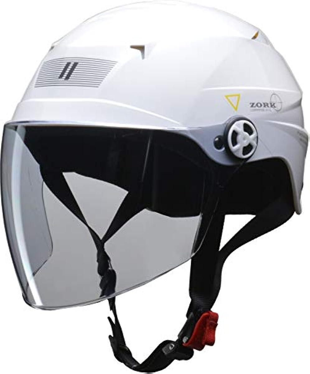 [해외] 리드 공업(LEAD) 오토바이용 허프 헬멧 ZORK (조쿠) 화이트 큰 프리 (60~62CM 미만) -