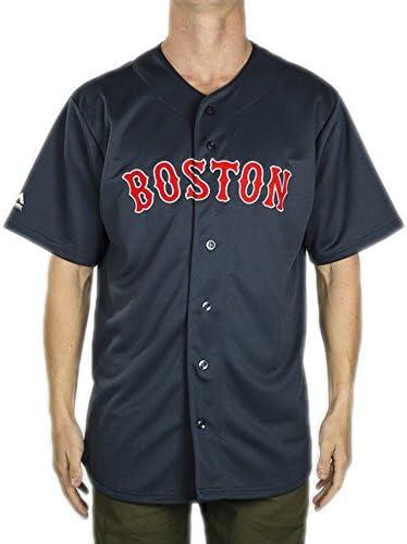 Majestic Hemd: MLB Replica Jersey Boston NV