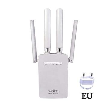 Repetidor de Red de Doble Banda WiFi Repeater 300 / 1200Mbps Dual-Band 2.4 /
