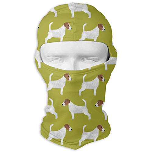 Jack Russell Terrier Balaclava Windproof Face Mask for Spring Summer Autumn Thin Mask White