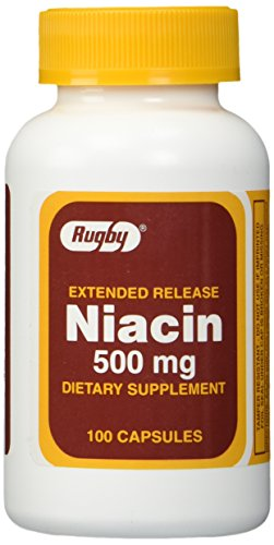 Rugby Extended Release Niacin 500mg Capsules - 3 Pack ()