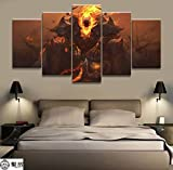 artwu League of Legends Thresh Game Wall Art Home Wall Decorations for Bedroom Living Room Oil Paintings Canvas Prints -507