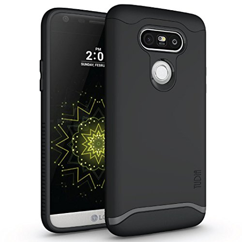 (LG G5 Case, TUDIA Slim-Fit Merge Dual Layer Protective Case for LG G5 (Matte Black))