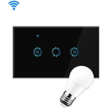 [Upgraded] 1Gang Smart Wi-Fi Dimmer Switch, Touch Wireless Wall Switches Plate Works with Alexa, Google Home, Remote Control with eWeLink APP, ...