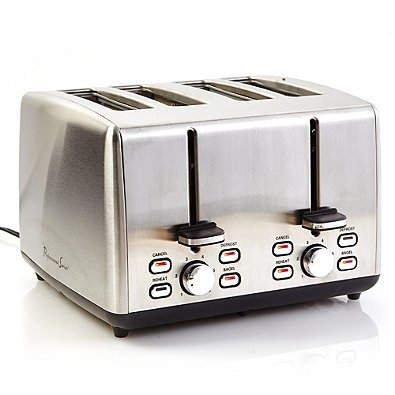 Professional Series Efficient, Defrost and Reheat Function, 925 Watts, Stainless Steel 4-Slice Toaster- Includes 4 extra wide slots