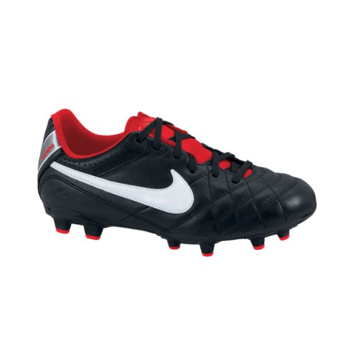 Nike Tiempo Natural IV LTR FG Junior black-white-challenge red 36,5