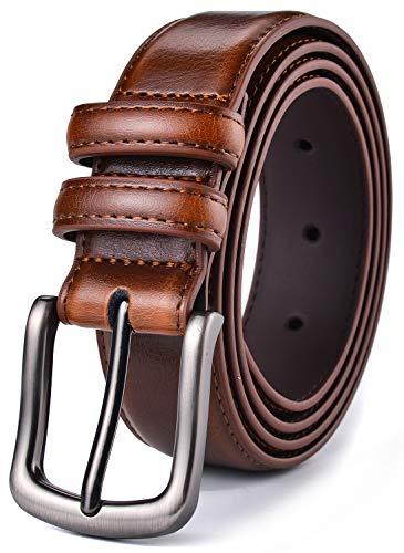 (Mens Belt,HW Zone Genuine Leather Dress Belt Classic Casual 1 1/4