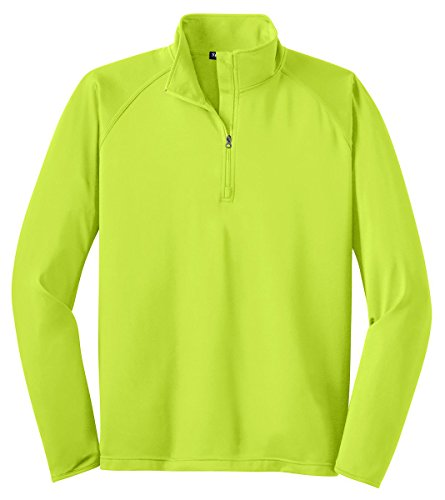 Sport-Tek Men's Sport Wick Stretch 1/2 Zip Pullover XXL Charge Green by Sport-Tek