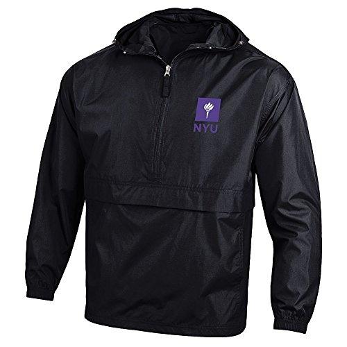 Elite Fan Shop New York University Violets Pack N Go Jacket Black   M