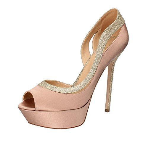 Sergio Rossi Pumps Damen Eu Satijn Glitter Roze