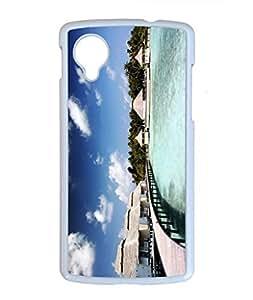 The Maldives Scenery Customized Design White PC Case for Google Nexus 5 Rest wangjiang maoyi