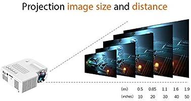 Proyector De Pel/ículas para Exteriores Mini Proyector UC28C Carga De Cable USB Proyector De Pel/ículas Port/átil con Resoluci/ón De 1920 /× 1080 waterfaill Proyector De Video Port/átil