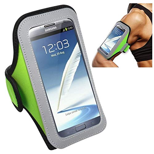 Insten Green Sport Armband Running Gym Excerce Workout Phone Holder Case Compatible with Apple iPhone 8 7 6 6S Plus SE/Motorola Nexus 6 / Galaxy Note 4 J7 J3 J1 S7 S6 Edge ZTE Zmax Grand X Max
