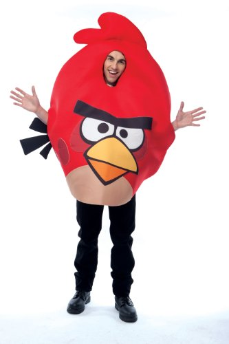 Paper Magic Unisex - Adult Angry Birds Costume, Red, One Size ()