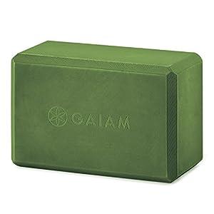 Gaiam Yoga Block Supportive Latex Free EVA Foam Soft Non Slip Surface for Yoga, Pilates, Meditation